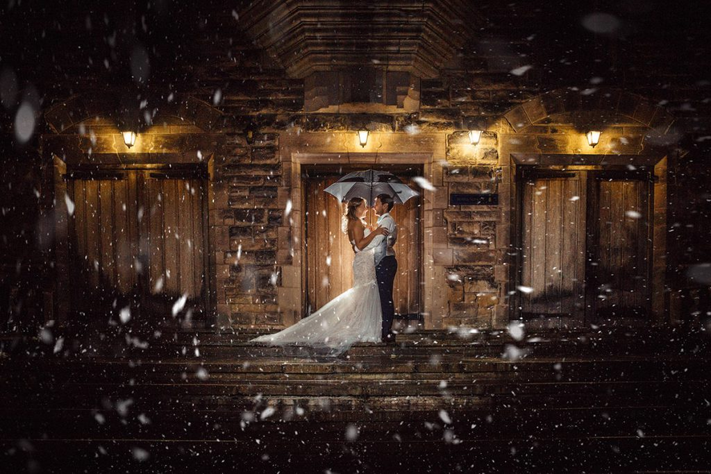 Derbyshire Wedding Photography in the snow