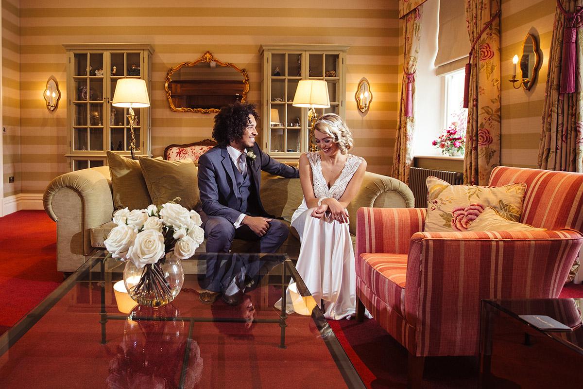 Stancliffe Hall Nottingham Wedding Photography Bride & Groom 005