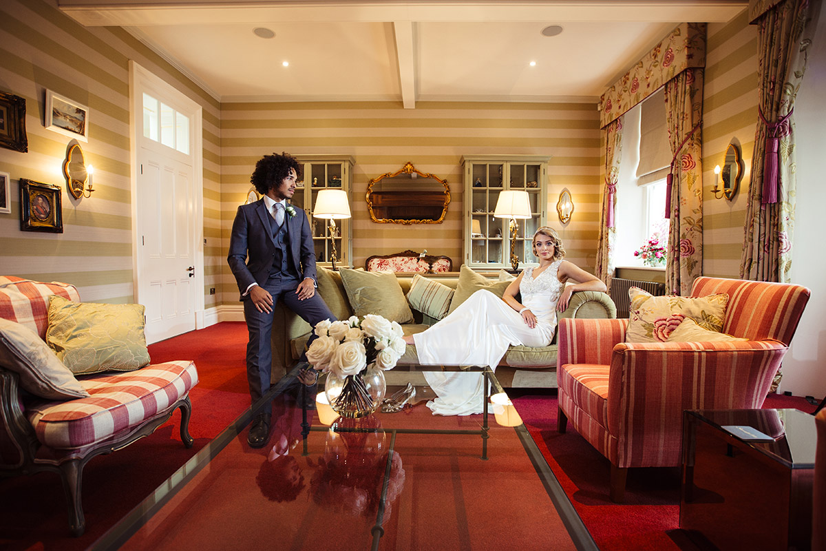 Stancliffe Hall Nottingham Wedding Photography Bride & Groom 006