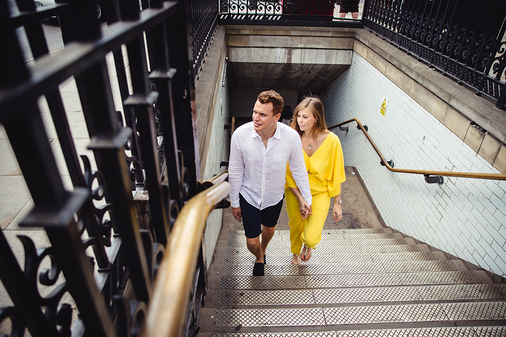 Pre wedding shoot london train station