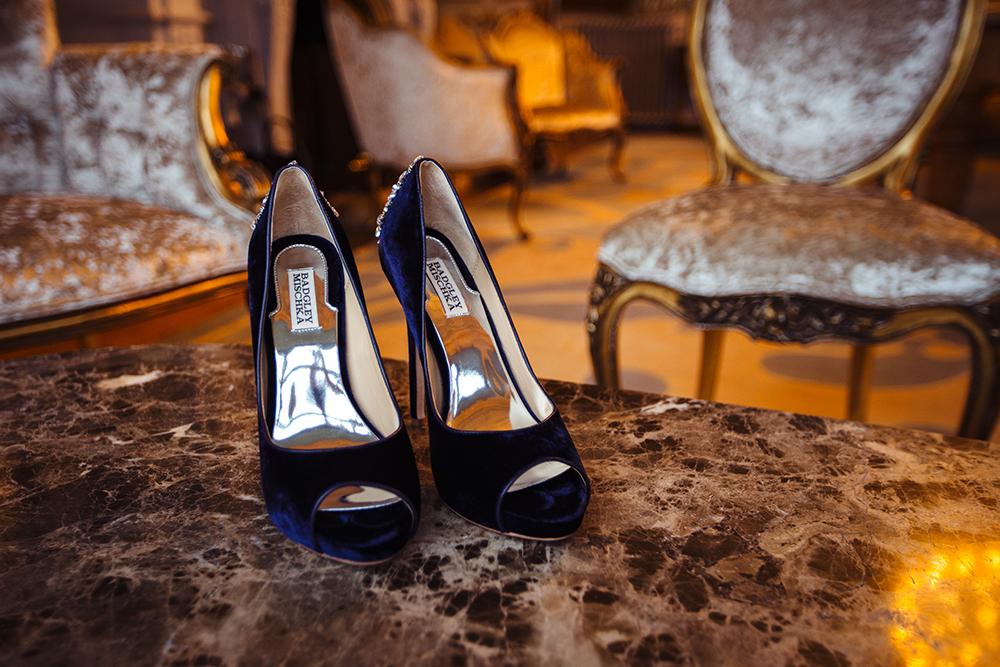 wedding shoes badgley mischka blue