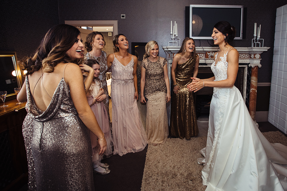 sparkle-golden-rosé- wedding-dress