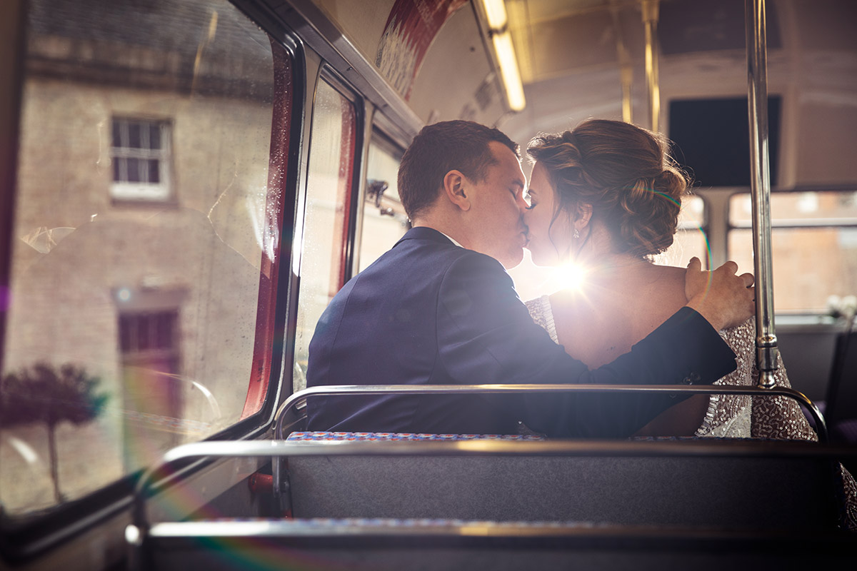 red bus london wedding